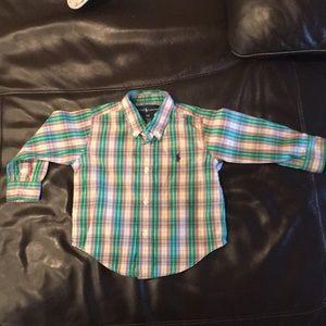 Ralph Lauren buttoned long sleeve shirt 18 months